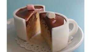 cupcake desain segelas coklat panas