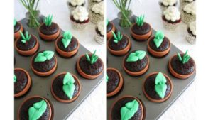 cupcake desain tanaman pot