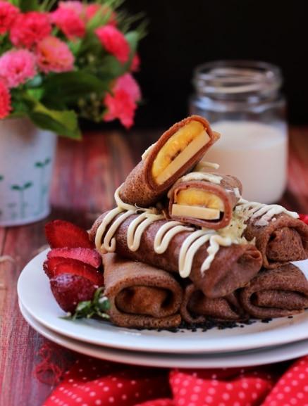 kue dadar gulung coklat