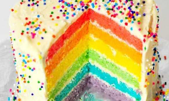 Resep Rainbow Cake Dengan Warna Alami Enak Dan Sehat